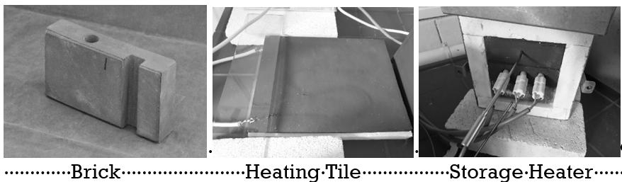 Examples of ALFERROCK ceramics for the storage of heat energy.